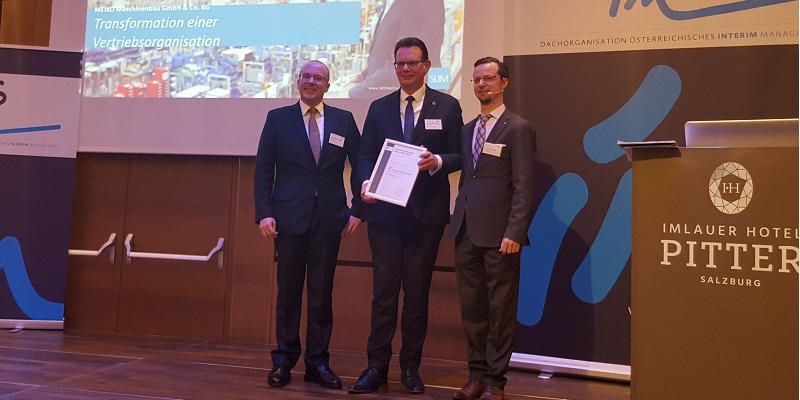 Siegfried Lettmann: Interim Manager des Jahres 2018
